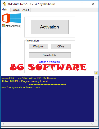 KMSAuto Net 2016 1261 Portable Активация Windows 81